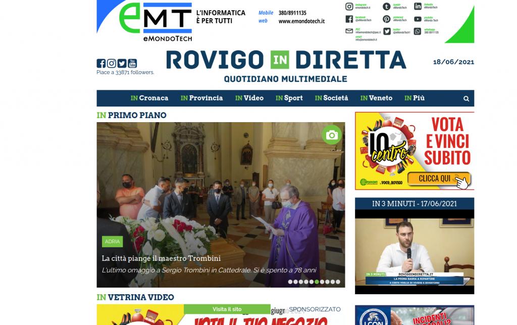 eMondoTech arriva su Rovigo in Diretta!
